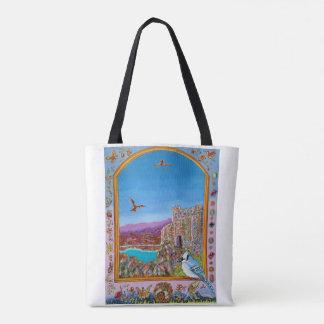 Ventana en castillo italiano por la bolsa de asas