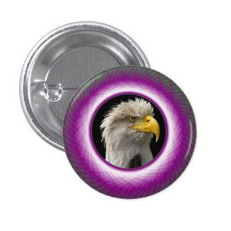 Ventana tejida verde y violeta del botón de
