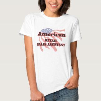 Ventas al por menor americanas auxiliares camiseta