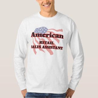 Ventas al por menor americanas auxiliares camisetas