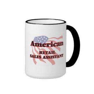 Ventas al por menor americanas auxiliares taza a dos colores