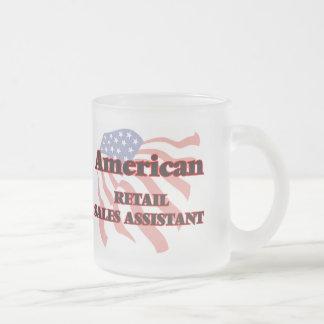 Ventas al por menor americanas auxiliares taza de cristal