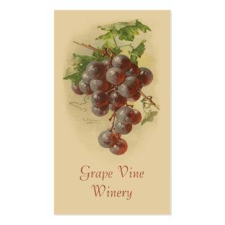 Ventas de la fruta de las uvas rojas tarjetas de visita