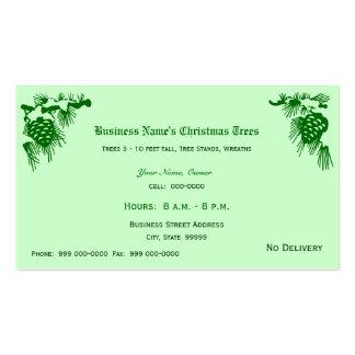 Ventas de los árboles de navidad tarjetas de visita