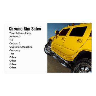 Ventas del coche, ventas del borde tarjetas de visita