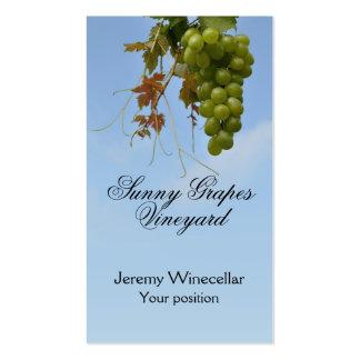 Ventas del vino de las uvas blancas tarjeta de visita