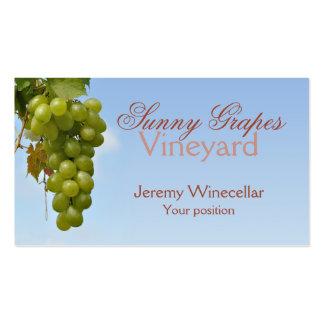 Ventas del vino de las uvas blancas tarjetas de visita
