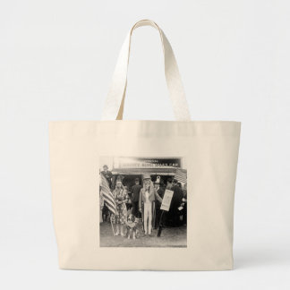 Ventas Estrella-Spangled: 1918 Bolsa Tela Grande