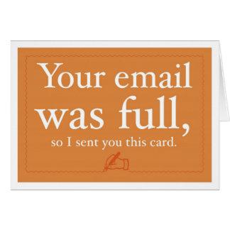 Ventas y tarjeta de la prospección - su correo