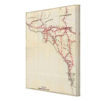 Ventura, Los Ángeles, San Bernardino, naranja Impresión De Lienzo