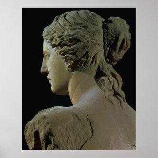 Venus de Milo, detalle de la parte posterior de la Posters