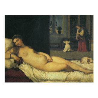 Venus de Urbino por Titian, arte renacentista Postal