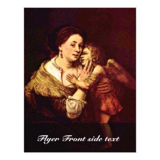Venus y Cupid. Por la escuela de Rembrandt Folleto 21,6 X 28 Cm