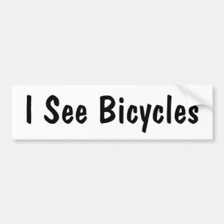 Veo las bicicletas etiqueta de parachoque
