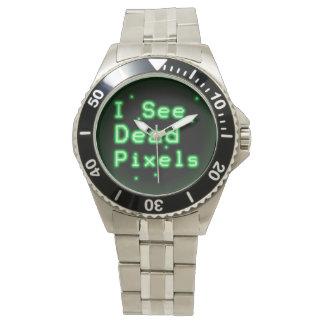 Veo los pixeles muertos relojes de pulsera