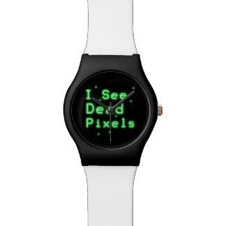 Veo los pixeles muertos reloj de mano