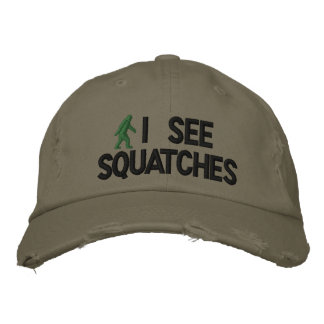 Veo squatches gorras de beisbol bordadas
