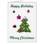 Ver estrellas el 25 de diciembre tarjeta de felicitación