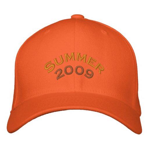 Verano, 2009 gorra de béisbol bordada