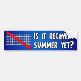 Verano anti de la recuperación de Obama Pegatina Para Coche