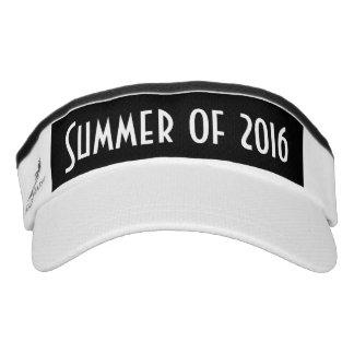 Verano de 2016, visera blanco negro visera