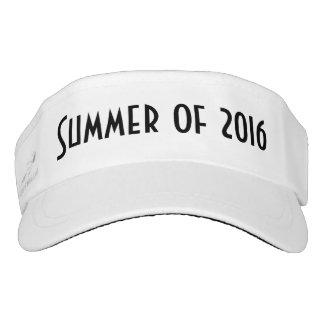 Verano de 2016, visera negro blanco visera
