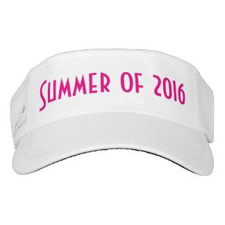 Verano de 2016, visera rosado candente visera