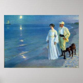 Verano de Peder Severin Krøyer que iguala la playa Póster