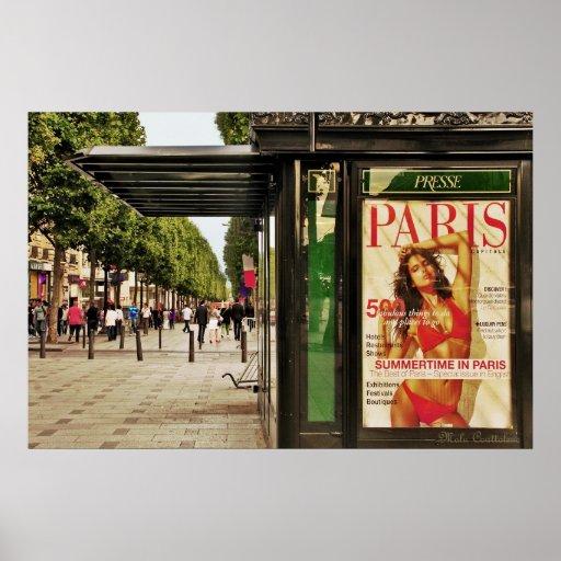 Verano en el poster de París