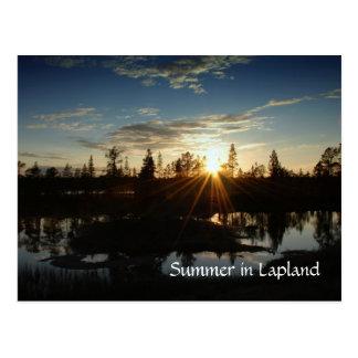 Verano en Laponia - postal