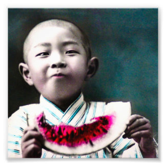 Verano en sandía vieja del vintage de Japón Fotografia