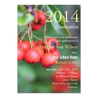 Verano, fiesta de graduación de las frutas del invitación 12,7 x 17,8 cm