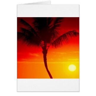 Verano Maui Hawaii del calor del cielo Felicitacion