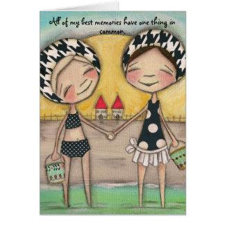 Verano por la orilla - tarjeta de felicitación