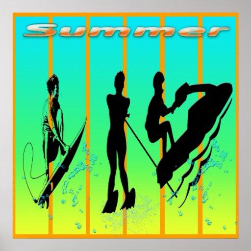 Verano - poster de los deportes acuáticos