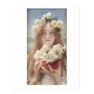 Verano que ofrece, 1894 de Alma-Tadema el   Postal
