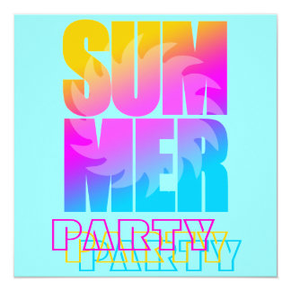 Verano Sun del tigre 80s de Corey Invitación 13,3 Cm X 13,3cm