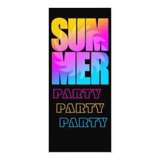 Verano Sun del tigre 80s de Corey Invitación 10,1 X 23,5 Cm