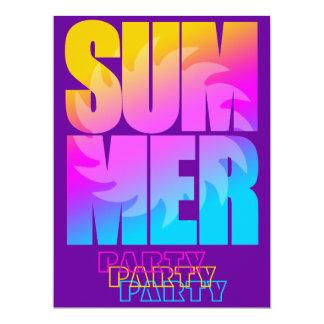 Verano Sun del tigre 80s de Corey Invitación 16,5 X 22,2 Cm