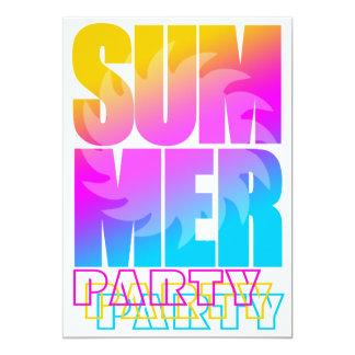 Verano Sun del tigre 80s de Corey Invitación 12,7 X 17,8 Cm