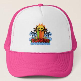 Verano tropical gorra de camionero