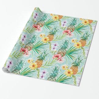 Verano tropical papel de regalo