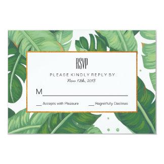 Verano tropical que casa la tarjeta de RSVP