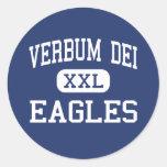 Verbum Dei - Eagles - alto - Los Ángeles Pegatinas Redondas