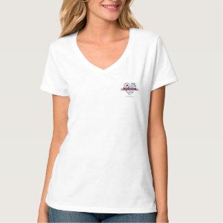Verdad la camiseta con cuello de pico de las