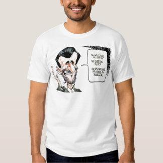 Verdad &Telling de la caricatura de Mahmoud Ahmadi Camisas