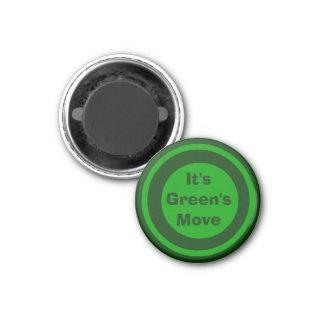 Verde 1-1/4 del marcador del ~TAG~ de los inspecto Iman