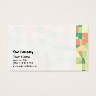 Verde a cuadros y salmones tarjeta de negocios