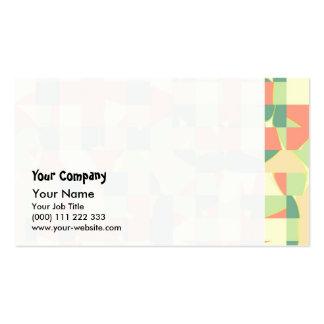 Verde a cuadros y salmones tarjetas de visita