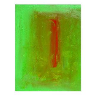 """""""Verde"""" a la impresión roja de la postal del"""